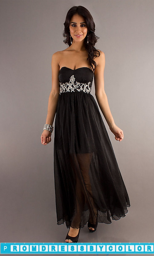 149 Black Prom Dresses – Long Strapless Prom Gown at www.promdressbycolor.com