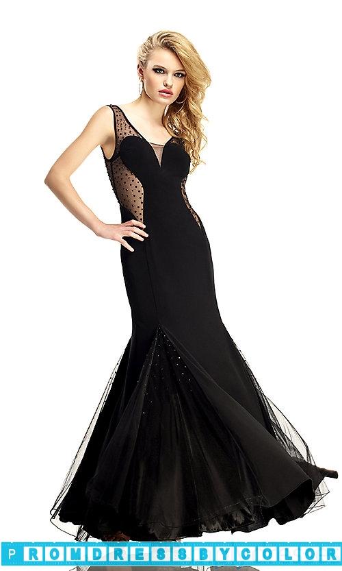 143 Black Prom Dresses – Long V-Neck Open Back Evening Gown at www.promdressbycolor.com