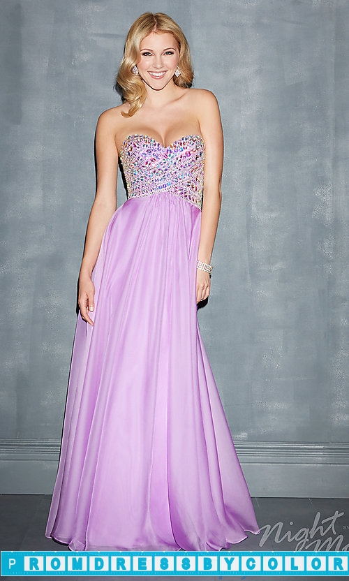 183 Black Prom Dresses – Night Moves Floor Length Strapless Dress at www.promdressbycolor.com