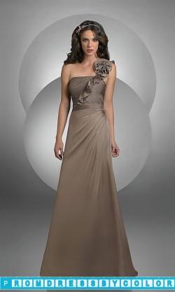 101 Black Prom Dresses – One Shoulder Chiffon Bridesmaid Dress by Bari Jay at www.promdressbycolor.com