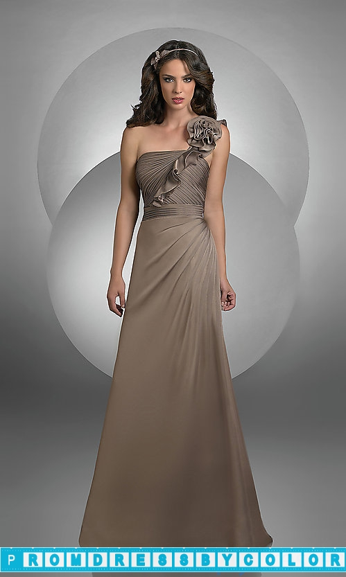 101 Black Prom Dresses – One Shoulder Chiffon Bridesmaid Dress by Bari Jay at www.promdressbycolor.com