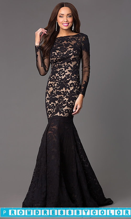 208 Black Prom Dresses – Open Back Lace Mermaid Gown by Xtreme 32550 at www.promdressbycolor.com