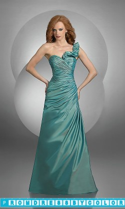 109 Black Prom Dresses – Ruffled One Shoulder Bridesmaid Dress by Bari Jay at www.promdressbycolor.com