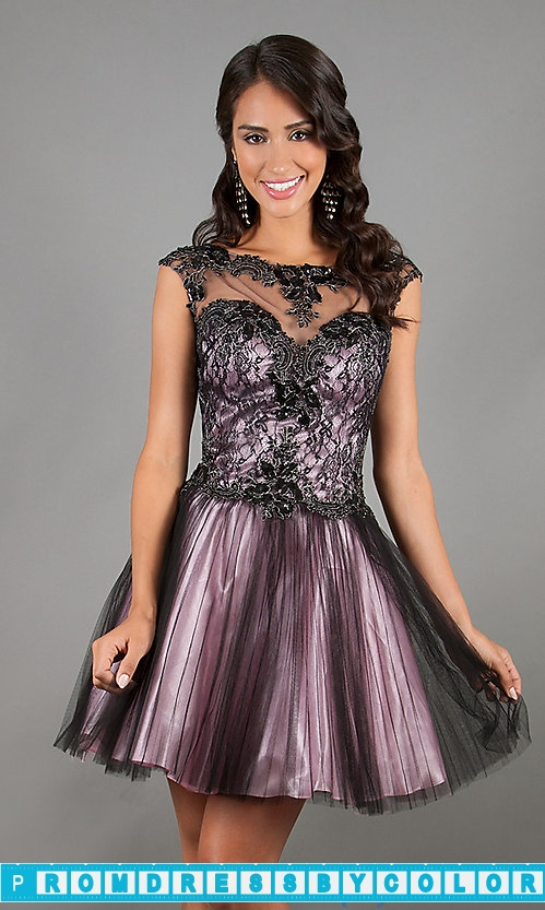 170 Black Prom Dresses – Sleeveless Baby Doll Dress by Alyce Paris 4338 at www.promdressbycolor.com