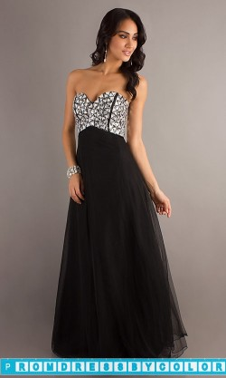 148 Black Prom Dresses – Strapless Beaded Evening Gown at www.promdressbycolor.com