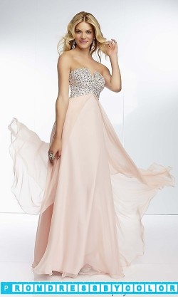 173 Black Prom Dresses – Strapless Chiffon Empire Waist Gown at www.promdressbycolor.com