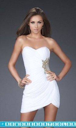 144 Black Prom Dresses – Strapless Mini Prom Dress by La Femme at www.promdressbycolor.com
