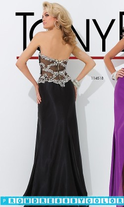 173 Black Prom Dresses – Strapless Sweetheart Dress with Side Slit at www.promdressbycolor.com
