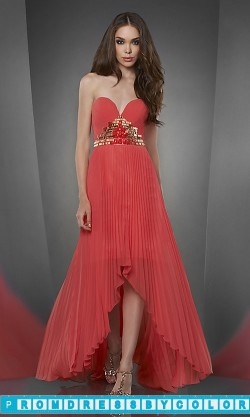 175 Black Prom Dresses – Strapless Sweetheart High Low Pleated Dress at www.promdressbycolor.com