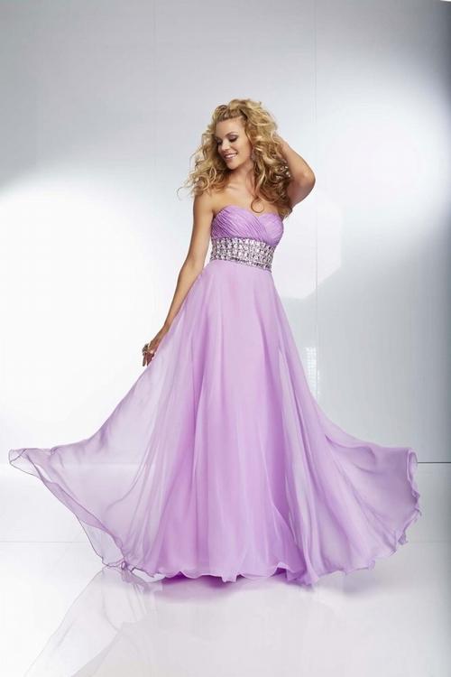174 Black Prom Dresses – Sweep Train Chiffon Princess Sweetheart Purple Military Ball/Evening Dress at www.promdressbycolor.com
