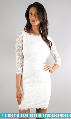 173 Black Prom Dresses – Three Quarter Sleeved Lace Dress at www.promdressbycolor.com