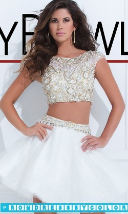 195 Black Prom Dresses – Two Piece Tony Bowls Dress at www.promdressbycolor.com