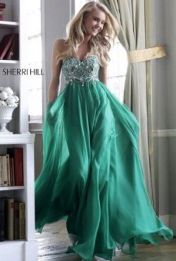 Cheap Emerald Green Sparkly Beaded Layered Chiffon Prom Dress [new-dress-0980] – $238.00 : Cute New Arrival Style Homecoming Prom Dresses Online For 2015 Party