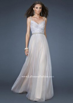 Cheap White Nude V Neck Beaded Floor Length Prom Dresses Sale [new-dress-0226] – $175.00 : Cute New Arrival Style Homecoming Prom Dresses Online For 2015 Party