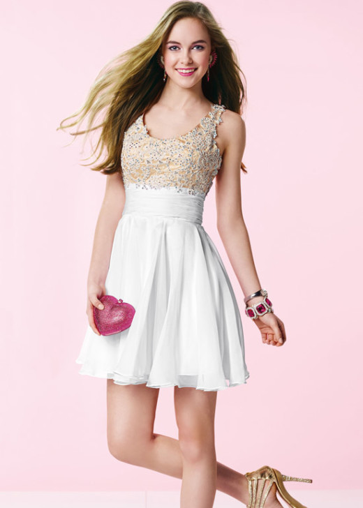 Diamond White Scoop Neck Lace Embroidered Bodice Homecoming Dress [Alyce 3639 Diamond White] – $160.00 : Short Homecoming Dresses For Party From www.homecoming2016.com