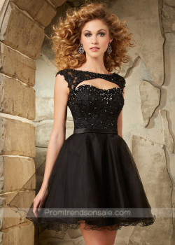 2015 Fashion Beaded Lace Cap Sleeves Cut Open Back Black Homecoming Dress [Mori Lee 9335 Black] – $182.00 : Hot Trends Homecoming Dresses,Prom Dress,Wedding Dress,Bridesmaid Dresses,Prom Shoes For Prom & Homecoming 2015 On Sale