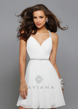 Flirty Ivory Chiffon Ruched Sweetheart Beaded Straps Cocktail Dress [Faviana 7663 Ivory] – $162.00 : Short Homecoming Dresses For Party From www.homecoming2016.com