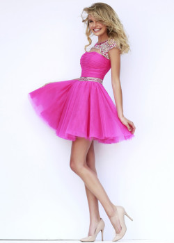 2015 Fuchsia Silver Short Cap Sleeves Beaded Ruched Prom Dress [Sherri Hill 11191 Fuchsia Silver] – $188.00 : Buy Homecoming Dresses 2015 Online,60% off Dresses For Prom,Bridesmaid Dresses,Prom Shoes,Summer Dresses & Sunglasses 2015 at Thepromtrend2015.com
