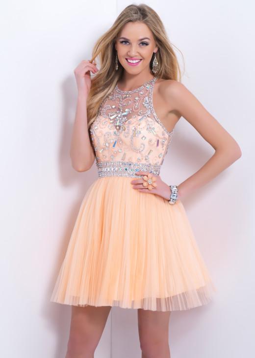 Illusion Beaded Sheer Back Light Apricot Homecoming Dress [Blush 9876 Light Apricot] – $195.00 : Hot Trends Homecoming Dresses,Prom Dress,Wedding Dress,Bridesmaid Dresses,Prom Shoes For Prom & Homecoming 2015 On Sale