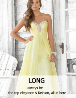 Long design sweetheart chiffon prom dress