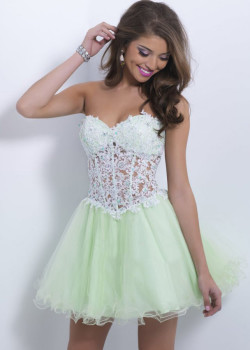 Light Green Bra-Shaped Jeweled Lace Flirty Strapless Homecoming Dress [Blush 9869 Light Green] – $182.00 : Cheap Fall 2015 Homecoming Prom Dresses For Girl Online,Under $200