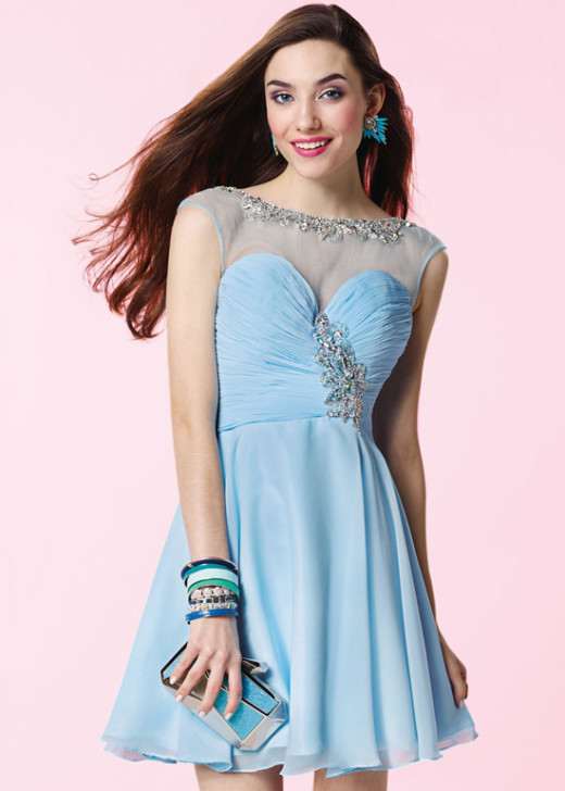 Lovely Illusion Beaded Ruched Light Blue Open Back Homecoming Dress [Alyce 3660 Light Blue] – $168.00 : Short Homecoming Dresses For Party From www.homecoming2016.com