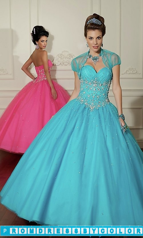 385 Red Prom Dresses – Embroidered Tulle Quinceanera Dress by Mori Lee at www.promdressbycolor.com