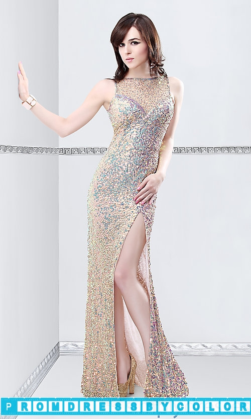 194 Red Prom Dresses – Floor Length Sleeveless Sequin Dress at www.promdressbycolor.com