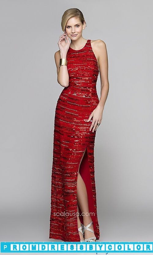 203 Red Prom Dresses – Full Length Sequin Formal Gown at www.promdressbycolor.com
