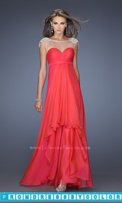 173 Red Prom Dresses – Long Open Back Gown with Cap Sleeves at www.promdressbycolor.com