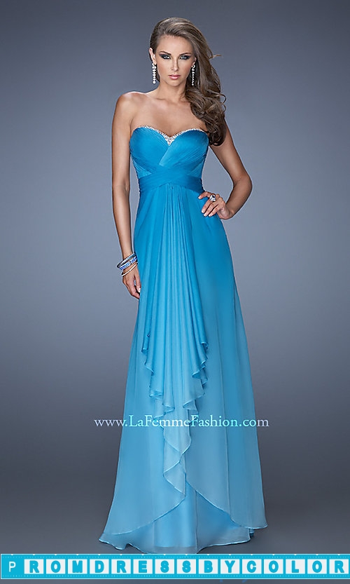 173 Red Prom Dresses – Long Strapless Open Back Ombre Gown at www.promdressbycolor.com