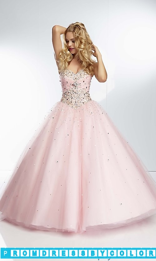 225 Red Prom Dresses – Long Strapless Sweetheart Ball Gown at www.promdressbycolor.com