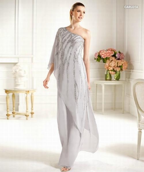 224 Red Prom Dresses – One Shoulder Sheath Column Floor Length Chiffon Evening Dress at www.promdressbycolor.com