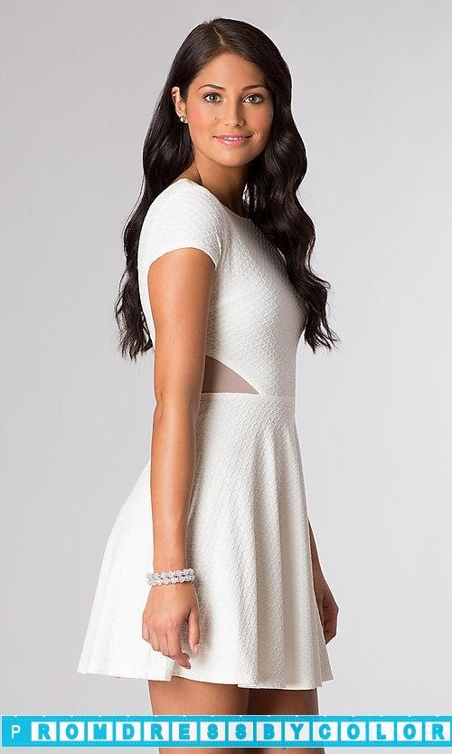 199 Red Prom Dresses – Open Back Short Sleeve White Dress at www.promdressbycolor.com