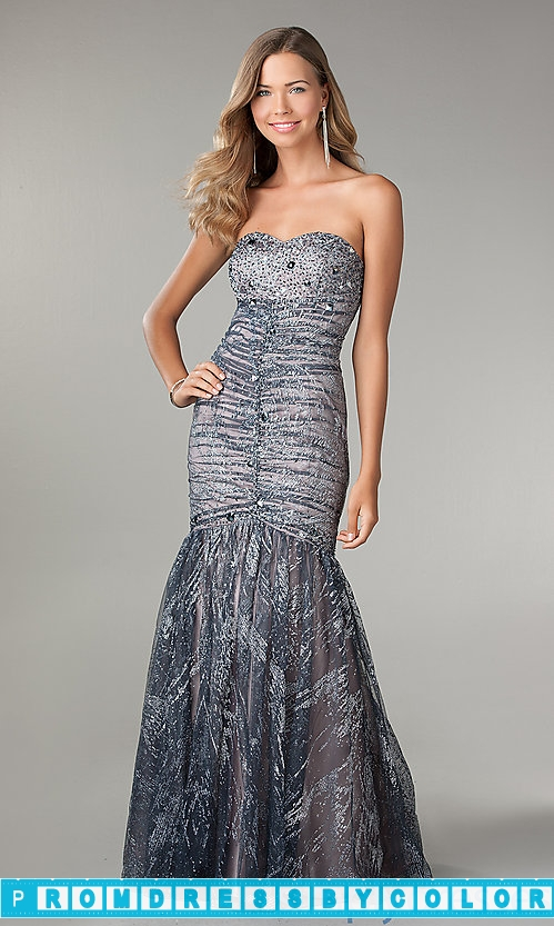 224 Red Prom Dresses – Shimmering Strapless Mermaid Gown by Jump at www.promdressbycolor.com