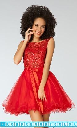 144 Red Prom Dresses – Short Cap Sleeve Sequin Embellished Dress at www.promdressbycolor.com