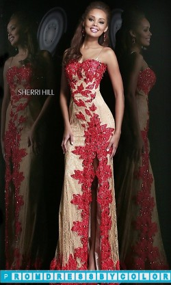 493 Red Prom Dresses – Spaghetti Strap Lace Prom Dress at www.promdressbycolor.com