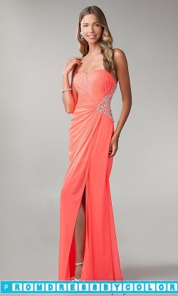 144 Red Prom Dresses – Strapless Open Back Prom Dress by Morgan at www.promdressbycolor.com
