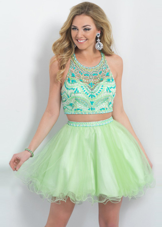 Short Beaded Bodice Straps Back Honeydew Two Piece Cocktail Dress [Blush 10080 Honeydew] – $225.00 : Hot Trends Prom Dresses 2015 On Store For Girls