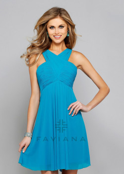 Short High Neck Criss-cross Ruched Sexy Back Blue Lagoon Cocktail Dress [Faviana 7649 Blue] – $135.00 : Short Homecoming Dresses For Party From www.homecoming2016.com
