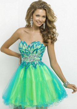 Short Rhinestone Beaded Strapless Two Tone Turquoise Lime Cocktail Dress [Blush 9721 Turquoise Lime] – $196.00 : Cheap Fall 2015 Homecoming Prom Dresses For Girl Online,Under $200