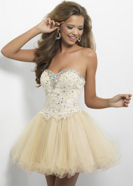2015 Strapless Aline Beaded Top Ruched Champagne Homecoming Dress [Blush 9652 Champagne] – $188.00 : Cheap Fall 2015 Homecoming Prom Dresses For Girl Online,Under $200