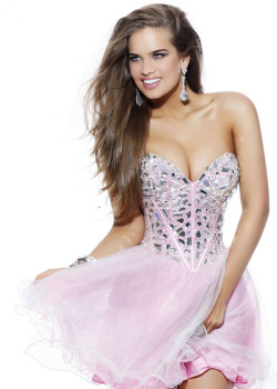 2014 Strapless Layered Pink Short Beaded Top Prom Dress [Sherri Hill 1403 Pink] – $185.00 : Buy Homecoming Dresses 2015 Online,60% off Dresses For Prom,Bridesmaid Dresses,Prom Shoes,Summer Dresses & Sunglasses 2015 at Thepromtrend2015.com
