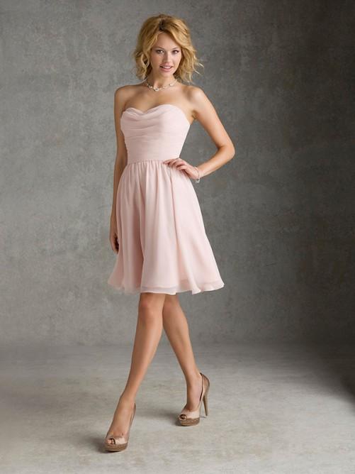 A-Line Sweetheart Sleeveless Knee-Length Bridesmaid Dress