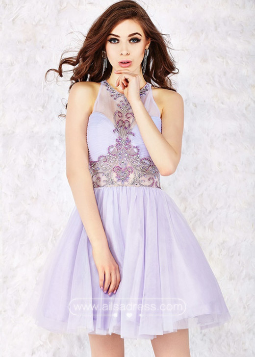 Beautiful Lilac Sleeveless Sequins Ruched Bodice Sheer Back Party Dress [Angela and Alison 52010 Lilac] – $192.00 : Prom Dresses 2015,Wedding Dresses & Gowns On Sale,Buy Homecoming Dresses From Ailsadress.com