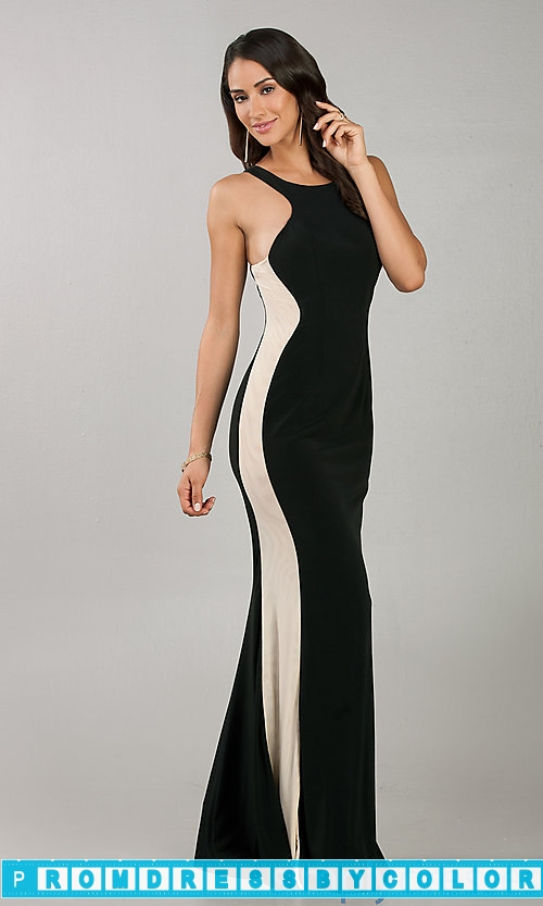 148 Black Prom Dresses – Floor Length Fitted Black Sleeveless Dress at www.promdressbycolor.com