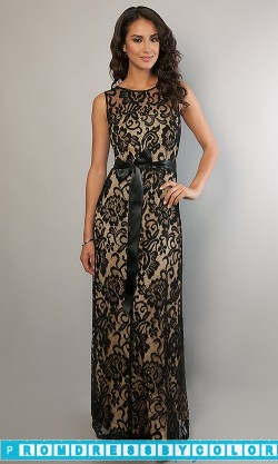 179 Black Prom Dresses – Floor Length Sleeveless Lace Dress at www.promdressbycolor.com