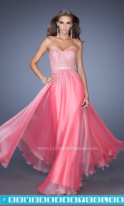 183 Black Prom Dresses – Floor Length Strapless La Femme Gown at www.promdressbycolor.com