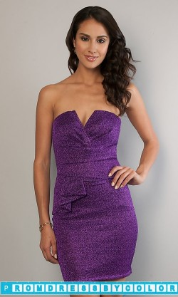 149 Black Prom Dresses – Short Strapless Glitter Dress at www.promdressbycolor.com