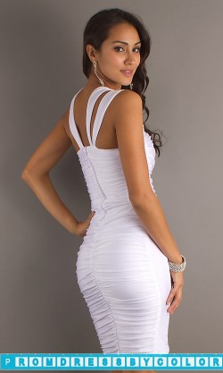 164 Black Prom Dresses – Short White Graduation Dress by Atria at www.promdressbycolor.com